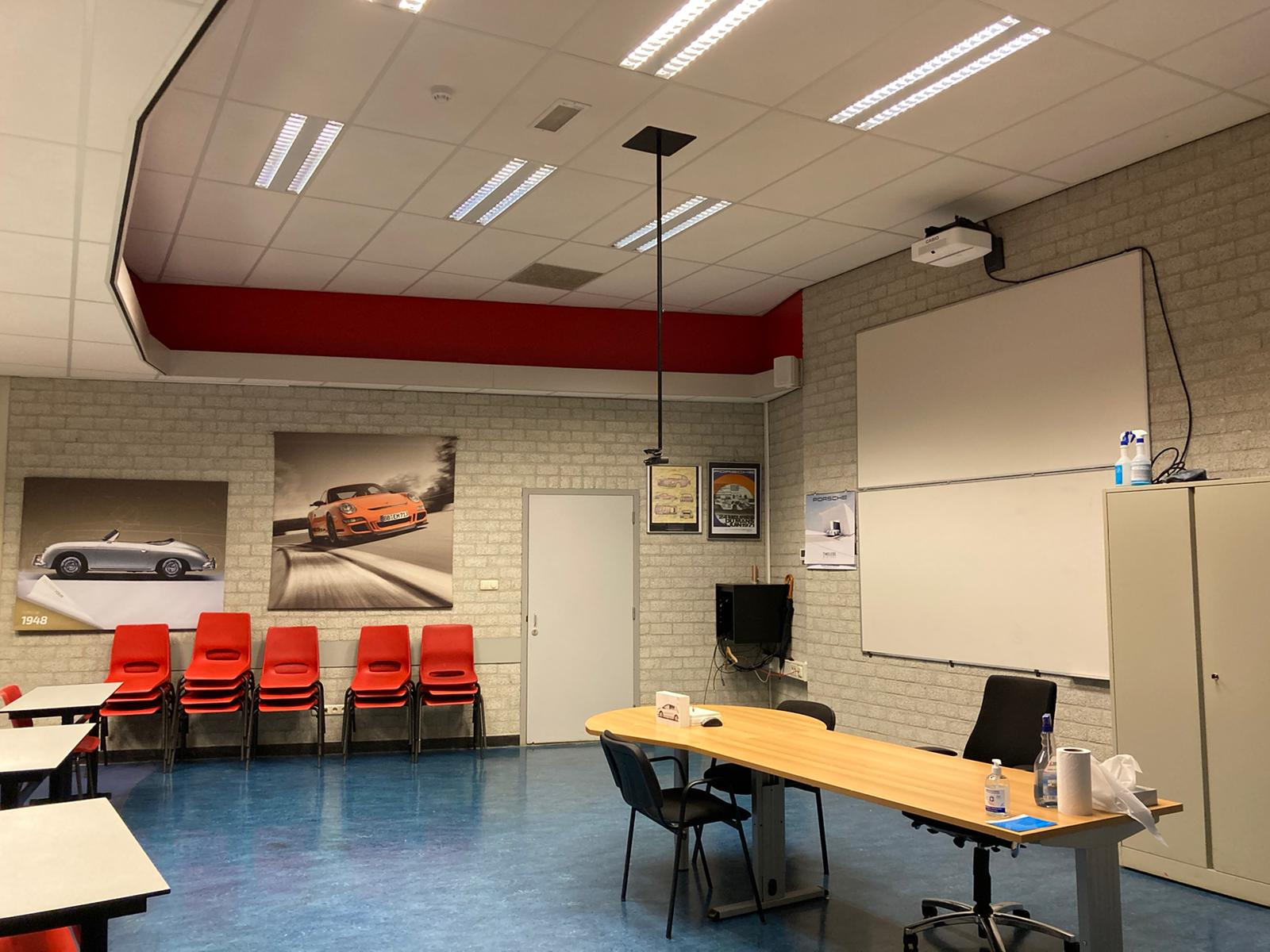 Cameraopstelling voor klaslokalen